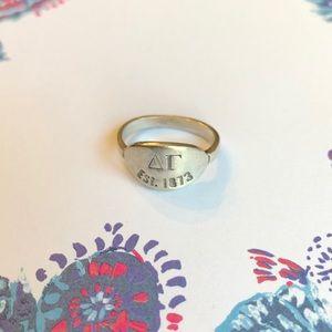 Sterling Silver Delta Gamma Ring